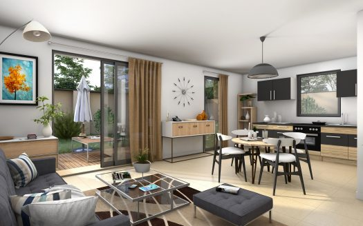 69008 LYON appartement neuf T3 duplex rezdejardin DHG CONSEIL